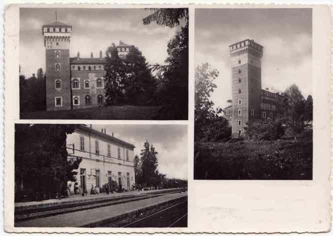 Cartolina di R. in cui si vedono entrambi i castelli